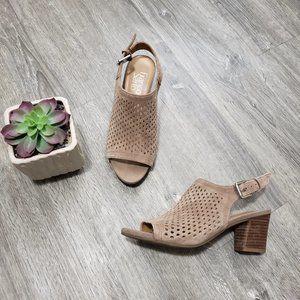 Franco Sarto Mandi Heeled Sandals Sling Back 6.5